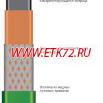Саморегулирующаяся нагревательная лента 15НТМ2-ВТ (15ФСМ2-СТ)