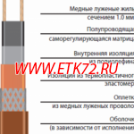 Саморегулирующаяся нагревательная лента 15НТА2-ВТ (15ФСЛе2-СТ)